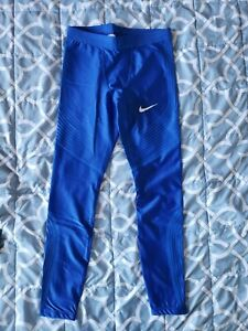 Nike Mens Pro Elite Power Speed Long Tights Size Medium Track and Field Rosa