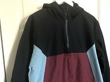 New + Tags Vintage Retro Sports Style - Primark Nylon Colour Block Hooded Jacket