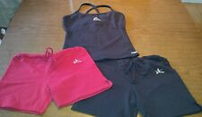 Lot 3 Women's exercise fitness Yoga-Fit top & shorts size S/M workout stretch