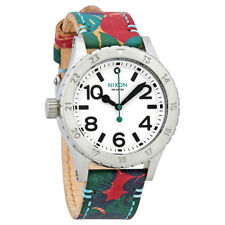 Nixon 38-20 Silver Dial Ladies Leather Watch A467-2280-00