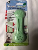 Pet Qwerks Flavorit -Breath/Mint Flavored Flex Bone for Moderate Chewers