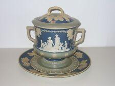 Villeroy Boch Mettlach Keramik alte Bowle Terrine Jugendstil Historismus