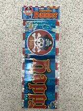 Holographic Happy Birthday Foil Pirate Banner 2.75m Long Decorative Party Reuse