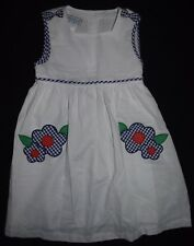 Girls NWT Samara Dress Sz Size 6 Blue White Bloomers 2 pc Set Outfit Flowers