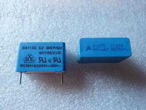 Condensateur 0.47uF 470nF 275Vac X2 MKP / SH Epcos - 2 PCS