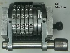 (W) Offset Number Skip 3, 5 Digit 1/8 Gothic,Heidelberg GTO Press and Others