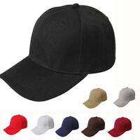 Adjustable Blank Cap Unisex Men Women Baseball Hip-hop Bboy Plain Golf Snapback