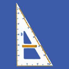 squadra da disegno per lavagna in materiale acrilico 60 cm - 60° con impugnatura