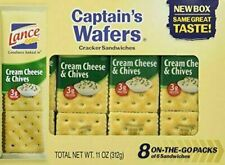 Captain's Wafers Crackers, Cream Cheese and Chives (3 To Go Packs)