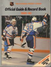 NHL Official Guide & Record Book The Oilers Wayne Gretzky 1985-86 013018nonr