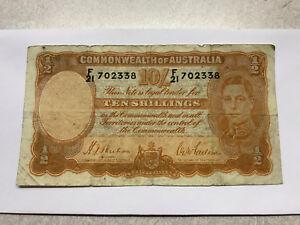 1939 Australia 10 Shillings Note Fine Sheehan-McFarlane #11315