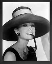 FRAMED Audrey Hepburn Sunhat 20x16 Art Print Poster Wall Decor Famous Image