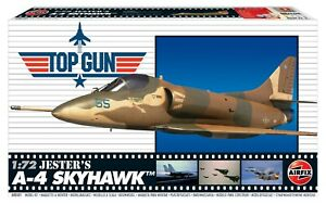 "Brand New Airfix 1:72nd Scale ""Top Gun"" Jester's A-4 Skyhawk Model Kit."