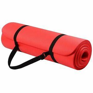 The Hensley 1/2-Inch Yoga Mat, Red