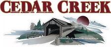 Cedar Creek Mountain Scene RV Graphic Lettering decal END CAP VERSION