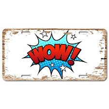 LP0454 Pop Art WOW Chic Sign Auto Plate Bar Store Home Room Decor Gift Sign