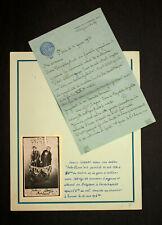 Courrier manuscrit de ÉDOUARD BOURDARIAT pilote aéronaute de ballon montgolfière