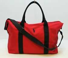 RALPH LAUREN RED BLACK WEEKEND BAG SPORT HOLDALL DUFFEL TRAVEL GYM BAG