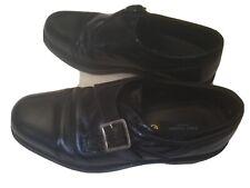 Peter James Of London Men's Shoes Black Buckle Monk UK9 9
