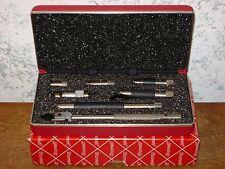 STARRETT TUBULAR ID INSIDE MICROMETER SET  NO 823AZ w/ CASE-BOX & ASSEMBLY CHART