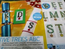CROSS STITCH CHART CHRISTMAS TOPIARY STYLE LETTERS FULL ALPHABET CHARTS