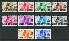 Katanga Scott #40-49 Mnh Ovpt Katanga on Maps Cv$2+