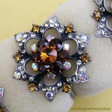 6 anneaux de serviette nouveau beau bijou incrusté gem stones tableau place