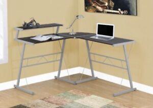 Monarch I-7171 Cappuccino Laminate Top Computer Desk w Silver Metal **NEW**