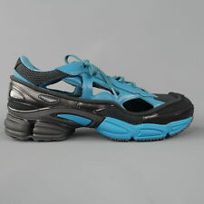 ADIDAS RAF SIMONS Size 10 Black & Blue REPLICANT OZWEEGO Trainers