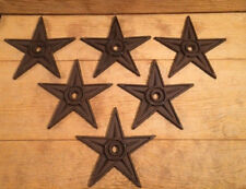 """Center Hole Star Rustic Cast Iron X-Large Decor 9"""" (Case of 6) 0170-02105"""