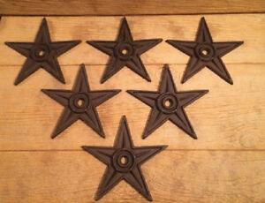 "Center Hole Cast Iron Star Anchor Plates X-Large Decor 9"" (Case of 6) 02105"