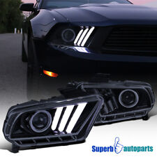 For 2010-2014 Mustang Projector Headlights Smoke Hi-Tech Look Sequential LED