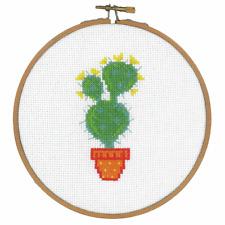 Vervaco Point de Croix Kit avec Broderie Bague : Cactus III
