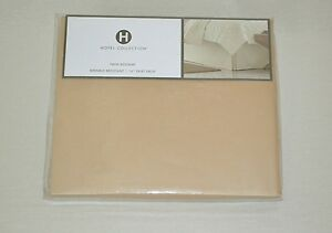 $75 Hotel Collection Modern Beige 400/TC Cotton Twin Bed Skirt
