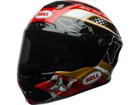 Casque moto route intégral BELL Star mips isle of man 18.0 brillant noir / or