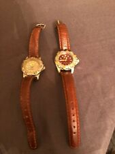 Nike Wrist Watch Lot of 2 1500 Professional Stainless Steel Leather Bands