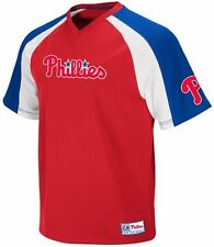 Philadelphia Phillies MLB Majestic Red V Neck Crusader Jersey Big & Tall Sizes