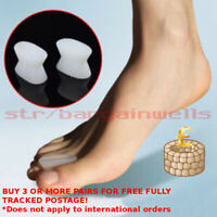 Toe Bunion Separator Corrector Straightener Gel Pain Relief Silicone 2pcs Orthot