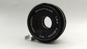MC Pentacon Prakticar 2.4 f=50mm Wide Angle Lens Praktica PB Bayonet Fit. Tested