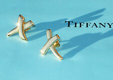 Tiffany & Co Paloma Picasso 18Ct 18K Gold Small KISS Earrings