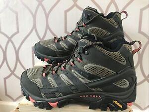 MERRELL Moab 2 Mid GTX Ladies Walking Boots Uk 7 Brand New Ar75