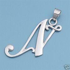 Alphabet Letter Pendants Sterling Silver 925 Best Price Jewelry Gift Initial N