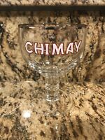 Vintage Chimay Belgian Ale Beer Glass with Silver Rim - Excellent Condition!