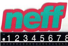 NEFF 7.5 in x 3.5 in STICKER Neff Headwear Snowboard Skate Red/Green Decal