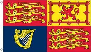 UK Royal Standard Flag 5ft x 3ft Giant British Military Flag - 2 Eyelets
