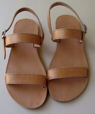 Ancient Greek - Natural Leather-Handmade in Crete - Strap Sandals/2 day shipping