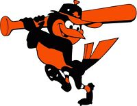 "Baltimore Orioles MLB Vinyl Decal - You Choose Size 2""-34"""