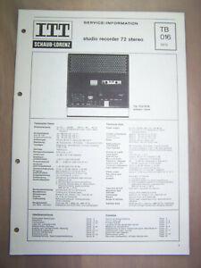 ITT Schaub-Lorenz Service studio recorder 72 stereo