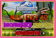 Jurassic WORLD The Game Builder INDOMINUS REX package Android iOS park