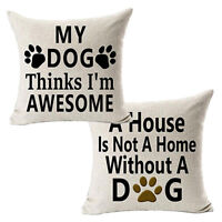 Best Dog Lover Gifts Cotton Linen Throw Pillow Case Cushion Cover Home Decor